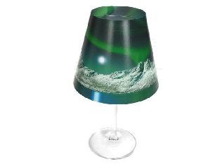 Candle Cover northern lights / mountains