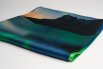 Silk scarf satin northern lights